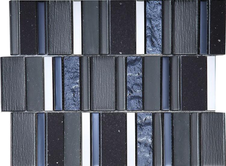 Stripes Carbon Mosaic Tiles