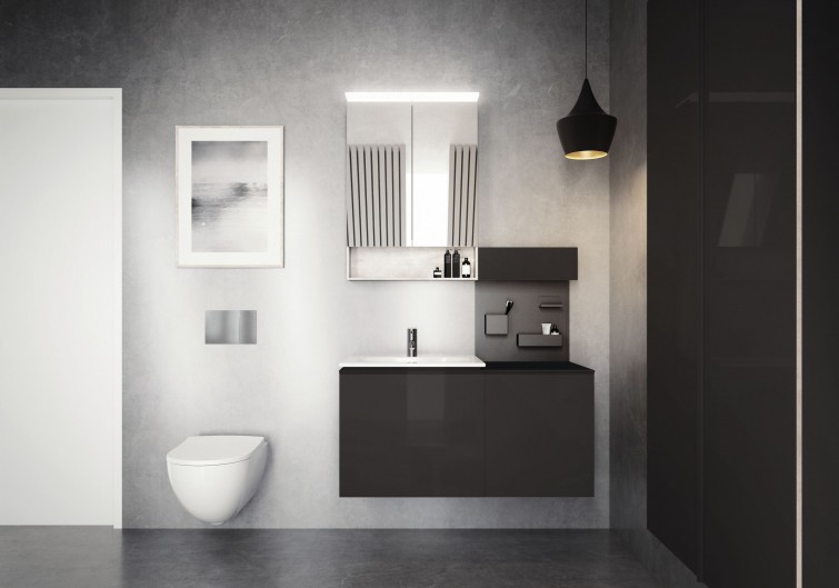 Complete bathroom series Geberit Acanto, available at www.realstoneandtile.co.uk